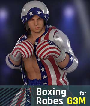 Boxing Robes G3M for Genesis 3 Male 3D Figure Assets gravureboxing