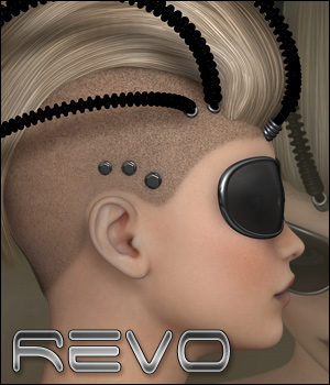 Revo - Hair and More 3D Figure Assets P3D-Art