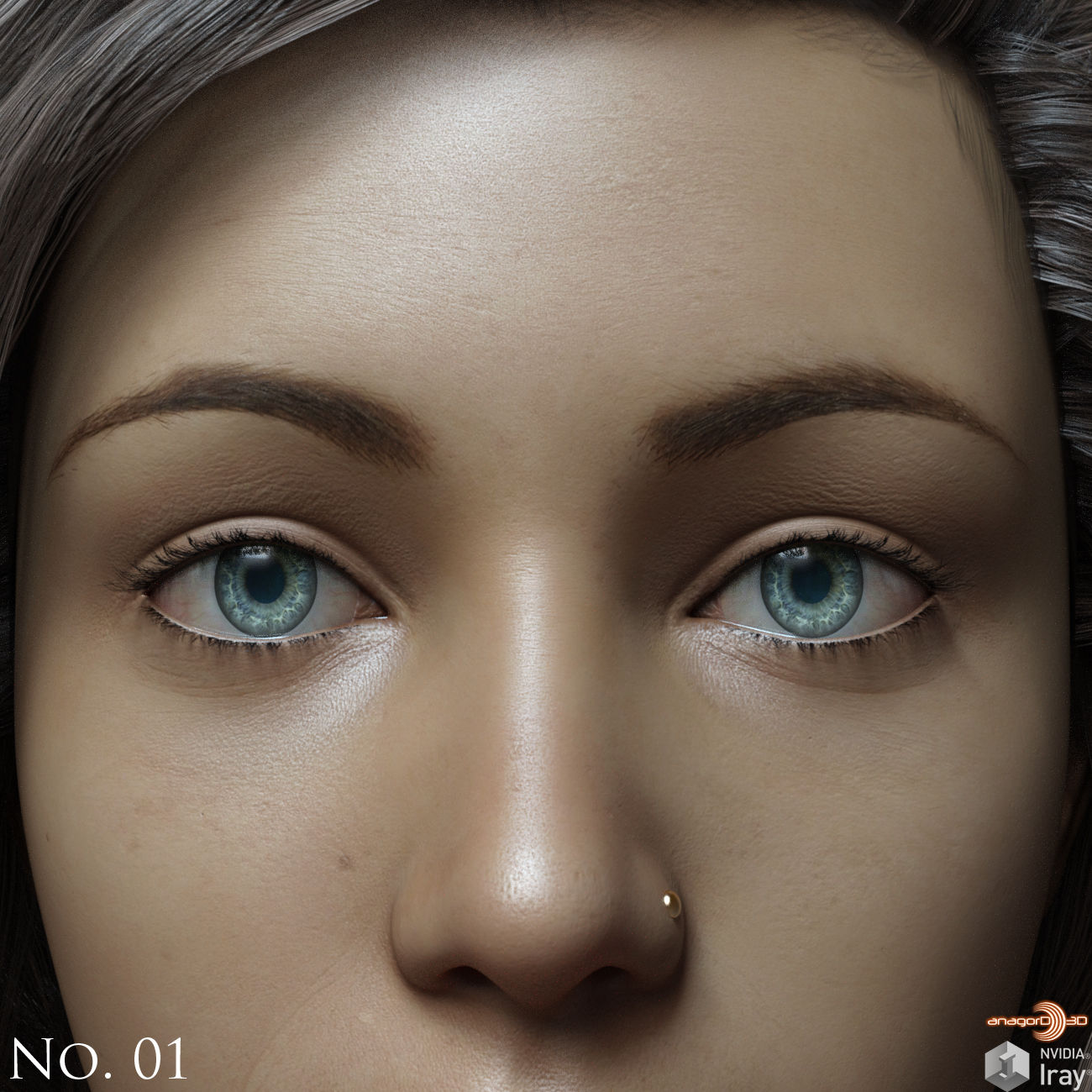 Eyes,Eyebrows&Lashes Morphs for G8F Vol 1