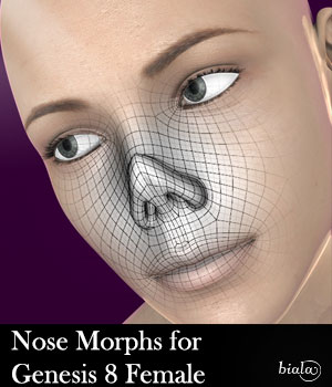 Nose Morphs for Genesis 8 Female 3D Figure Assets biala