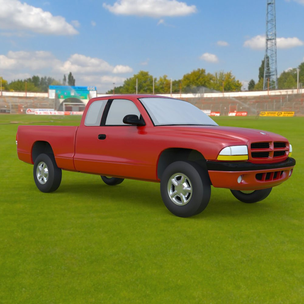 Dodge Dakota Ext Cab Pickup - 3ds and obj - Extended License
