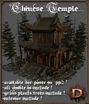 Chinese Temple 3D Models Dante78
