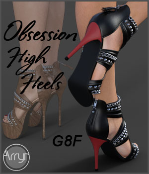 Obsession High Heels for Genesis 8 Females 3D Figure Assets Onnel