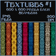 Ornamental Colours Seamless Texture Pack image 1