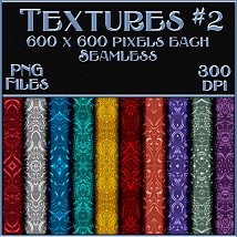 Ornamental Colours Seamless Texture Pack image 2