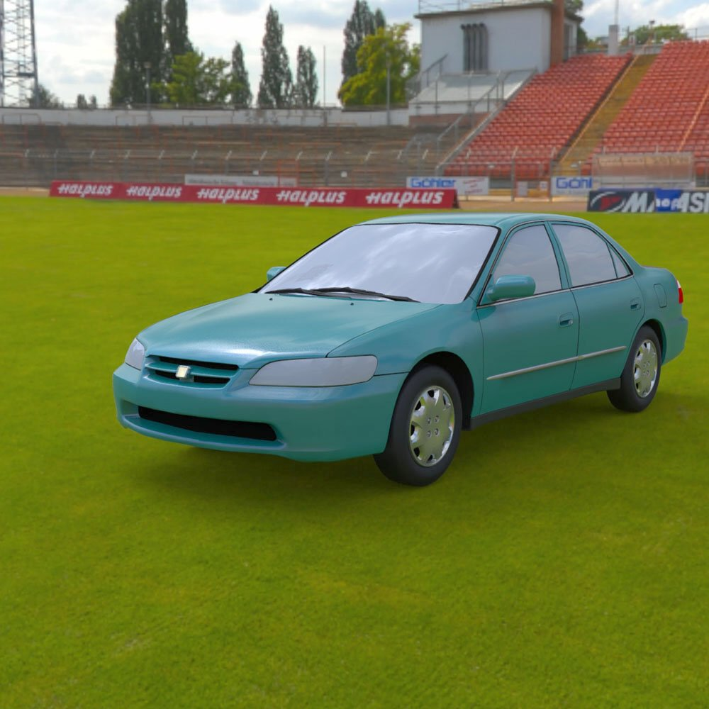 Honda Accord 1998 - 3ds and obj - Extended License
