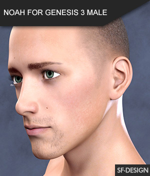 NOAH FOR GENESIS 3 MALE 3D Figure Assets SF-Design