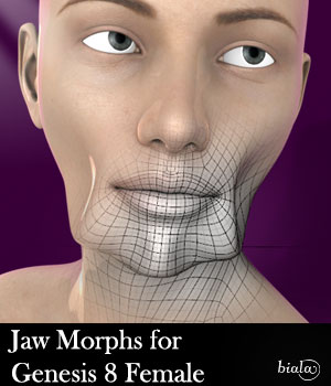 Jaw Morphs For Geness 8 Female 3D Figure Assets biala