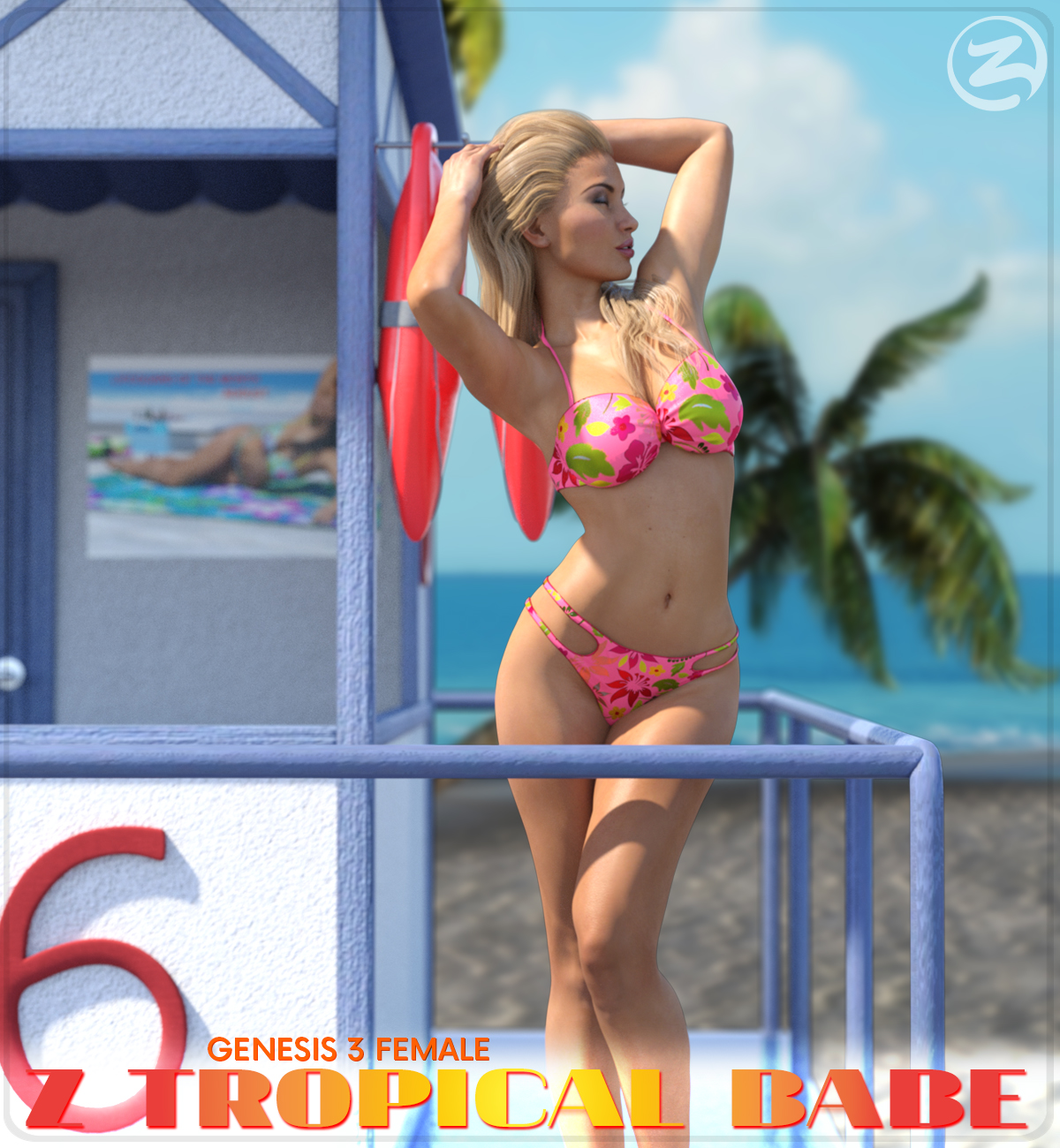 Z Tropical Babe - Poses for the Genesis 3 Females