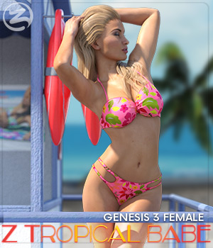 Z Tropical Babe - Poses for the Genesis 3 Females 3D Figure Assets Zeddicuss