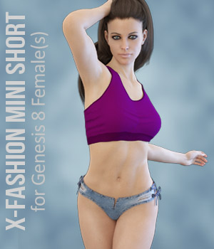 X-Fashion Mini Short for Genesis 8 Females 3D Figure Assets xtrart-3d
