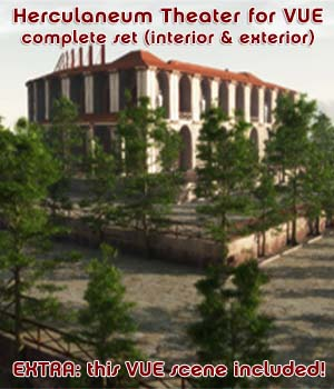 Herculaneum Theater - the complete set for VUE 3D Models enxo69