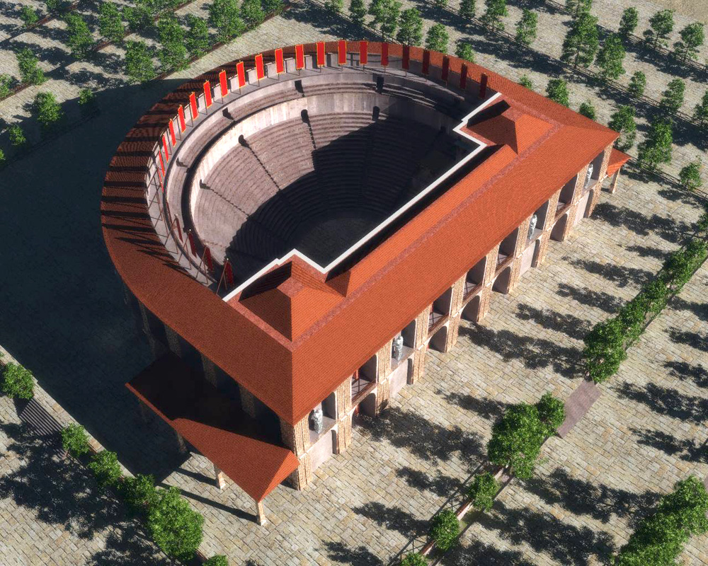 Herculaneum theater the complete set for vue 3d models for Architecture 3d vue 3d