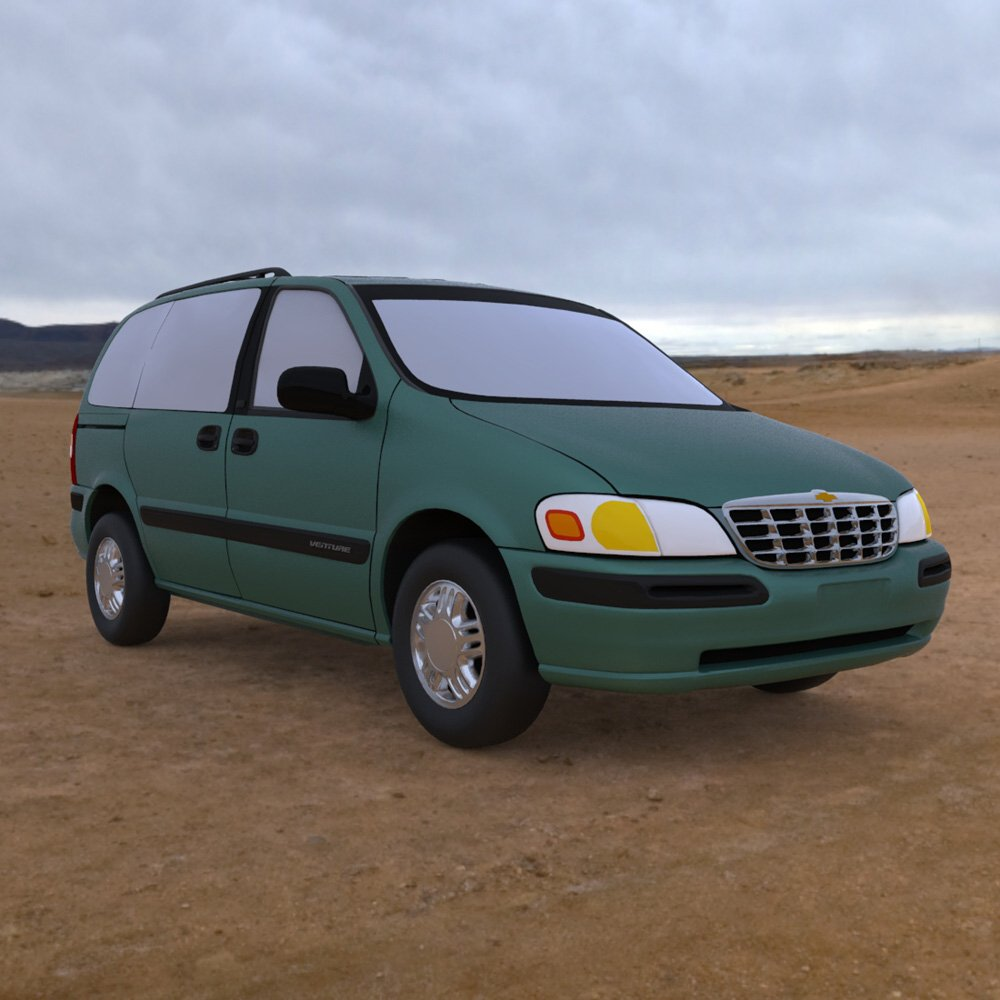Chevy Venture 1998 - 3ds and obj - Extended License