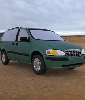 Chevy Venture 1998 - 3ds and obj - Extended License 3D Game Models : OBJ : FBX 3D Models Extended Licenses Digimation_ModelBank
