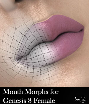 Mouth Morphs for Genesis 8 Female 3D Figure Assets biala