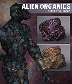 Daz Iray - Alien Organics 2D Graphics Merchant Resources Atenais