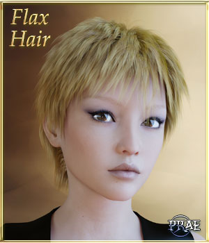 Prae-Flax Hair For G3 3D Figure Assets prae