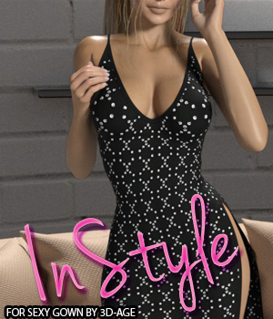 InStyle - Sexy Gown 3D Figure Assets -Valkyrie-