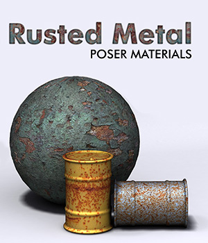Rusted Metal :: Poser Materials 2D Graphics Merchant Resources Cyrax3D