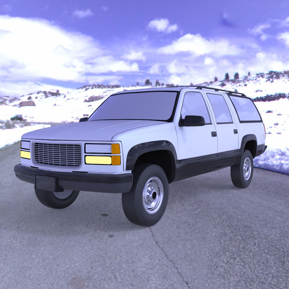 Chevrolet Suburban 1998 - 3ds and obj - Extended License