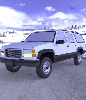 Chevrolet Suburban 1998 - 3ds and obj - Extended License 3D Game Models : OBJ : FBX 3D Models Extended Licenses Digimation_ModelBank
