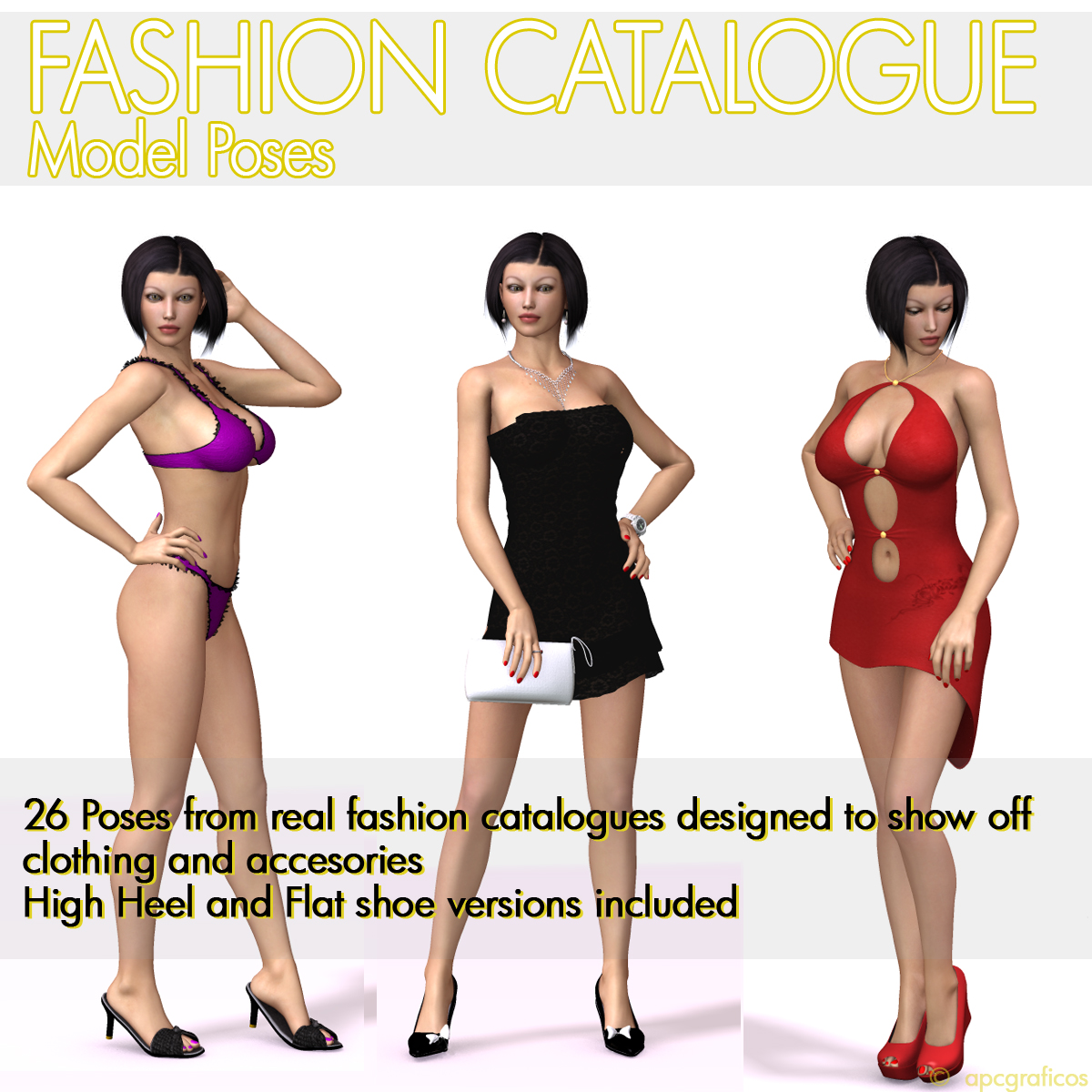 Fashion Catalogue Model Poses for V4 by apcgraficos