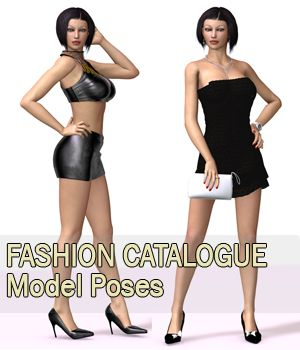 Fashion Catalogue Model Poses for V4 3D Figure Assets apcgraficos