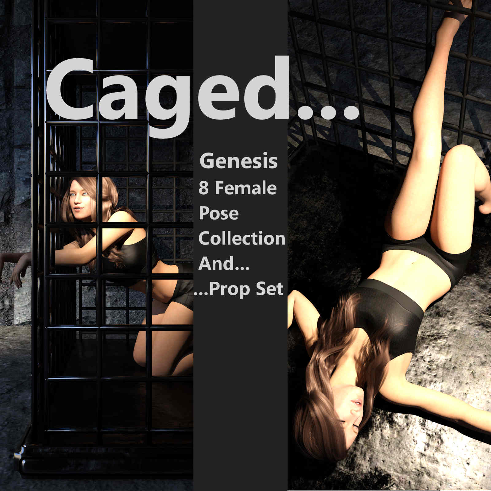 Caged Prop and Pose Collection for Genesis 8 Female