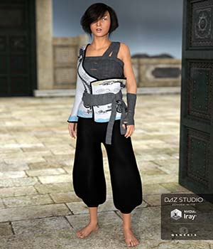 Eastern Wanderer for Genesis 3 Females 3D Figure Assets Cichy