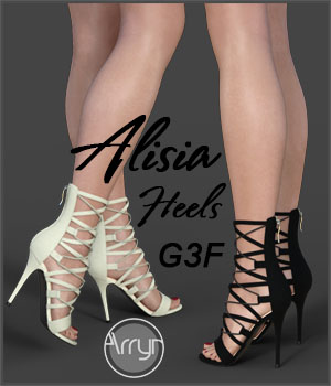 Alisia Heels for Genesis 3 Females 3D Figure Assets Arryn