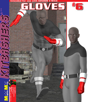 Kitbashers G3M Gloves-006 3D Figure Assets MightyMite