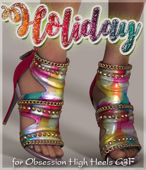 Holiday for Obsession High Heels G3F 3D Figure Assets alexaana