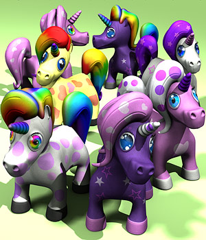 Fluffy Unicorns 3D Models coflek-gnorg