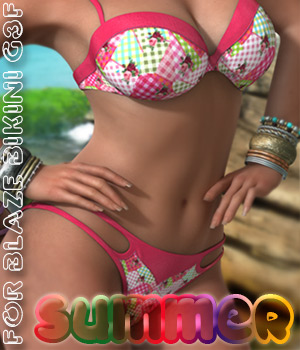 Summer for BlazeBikini G3F 3D Figure Assets alexaana