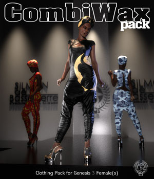 COMBIWAX Pack for Genesis 3 Females 3D Figure Assets samsil