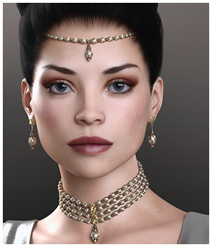 GCD Jewelry - Mila Collection for G8F 3D Figure Assets GrayCloudDesign