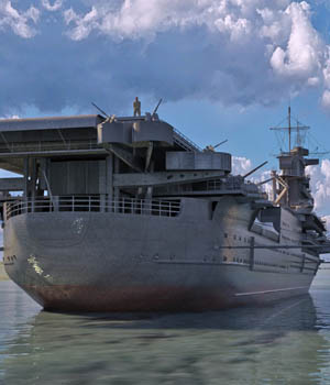 MS17 USS Yorktown for DAZ 3D Models London224