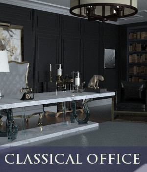 Classical Office 3D Models TruForm