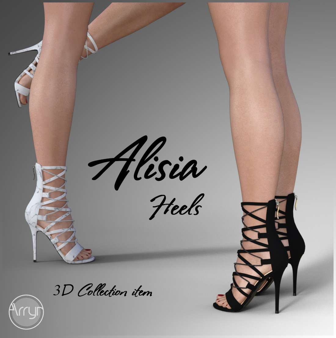 Alisia Heels for Genesis 8 Females