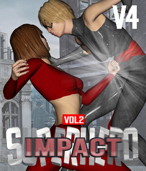 SuperHero Impact for V4 Volume 2 3D Figure Assets GriffinFX