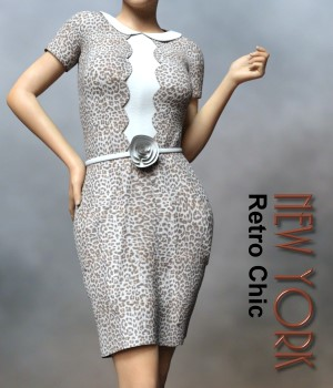 Retro Chic New York Clothing G3F and G8F 3D Figure Assets chasmata