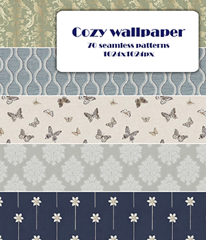 Cozy wallpaper - Seamless texture 2D Graphics Merchant Resources romawka