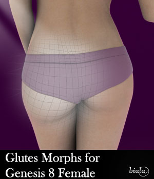 Glutes Morphs for Genesis 8 Female 3D Figure Assets biala