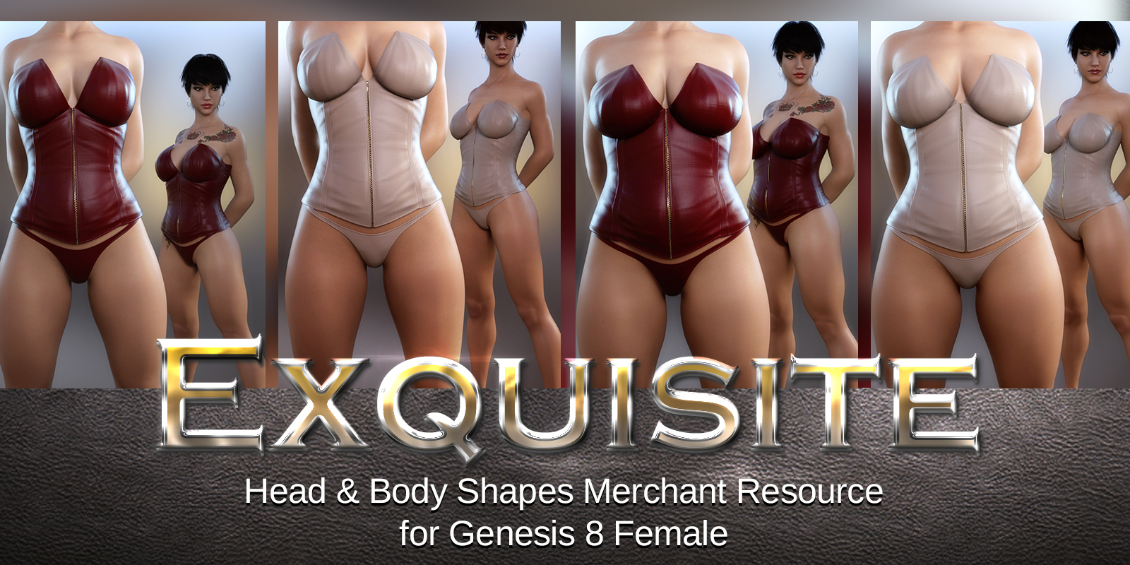 Exquisite Head & Body Merchant Resource Genesis 8 Female by 3DSublimeProductions