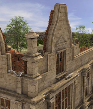 MS17 Moreton Corbet Ruin for DAZ 3D Models London224