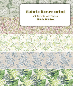Fabric flower print - Seamless texture 2D Graphics Merchant Resources romawka