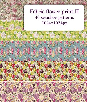 Fabric flower print II - Seamless texture 2D Graphics Merchant Resources romawka