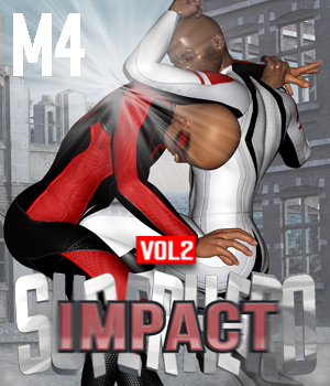 SuperHero Impact for M4 Volume 2 3D Figure Assets GriffinFX