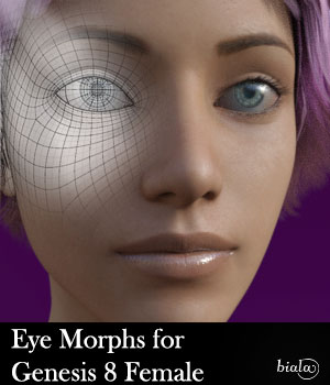 Eye Morphs for Genesis 8 Female 3D Figure Assets biala